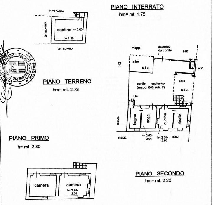 foto piantina Villa unifamiliare via Don Bosco 31, Mathi