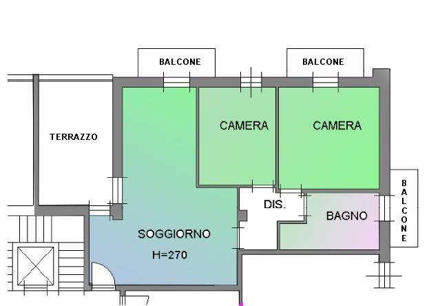 foto Planimetria 3-room flat Strada del Corno 4, Cherasco