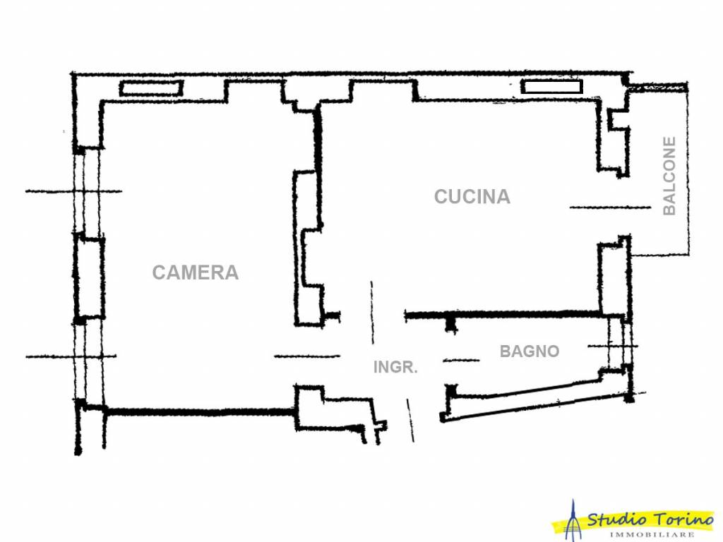 foto Planimetria Bilocale via Giorgio Catti 20, Torino