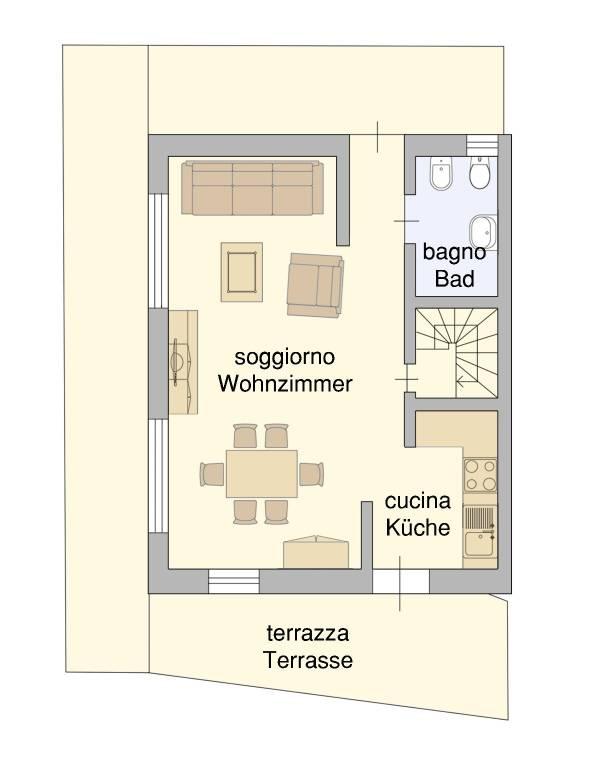 foto piano terra 2-room flat Mercato Vecchio 26, San Candido