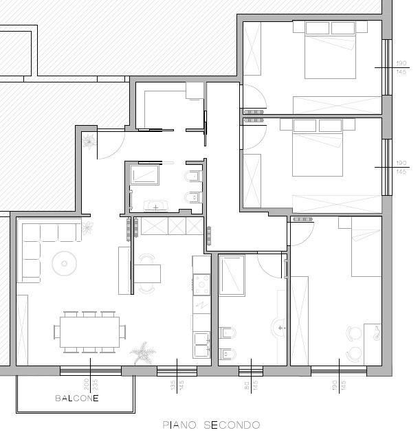 foto pianta appartamento Appartamento ottimo stato, secondo piano, Trento