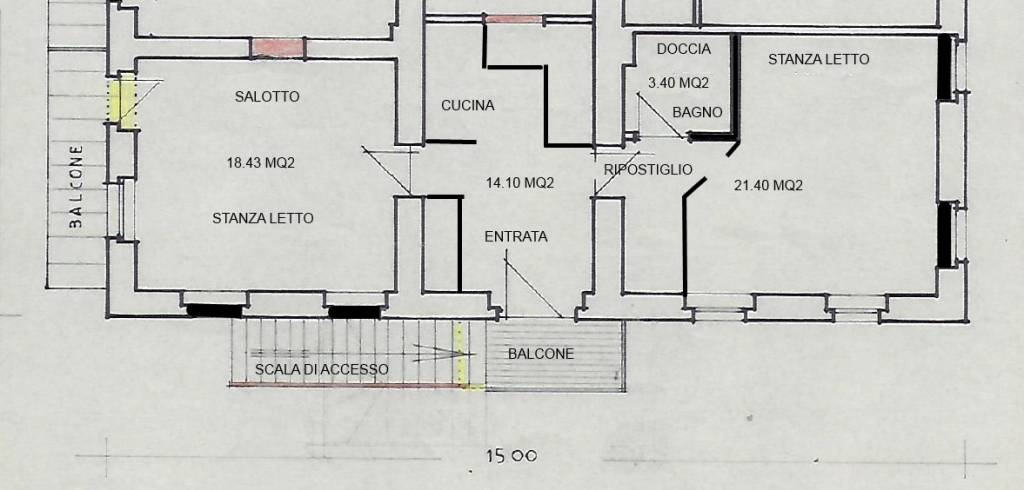 foto  3-room flat good condition, first floor, San Candido
