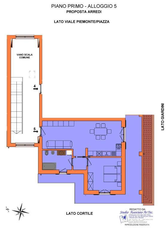 foto  2-room flat via Piemonte 32-B, Busca