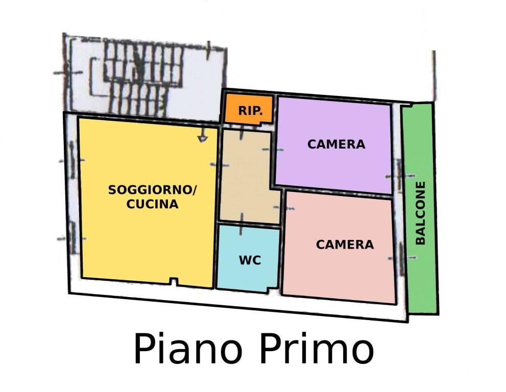 foto Planimetria 3-room flat via Alessandro Volta, Limido Comasco