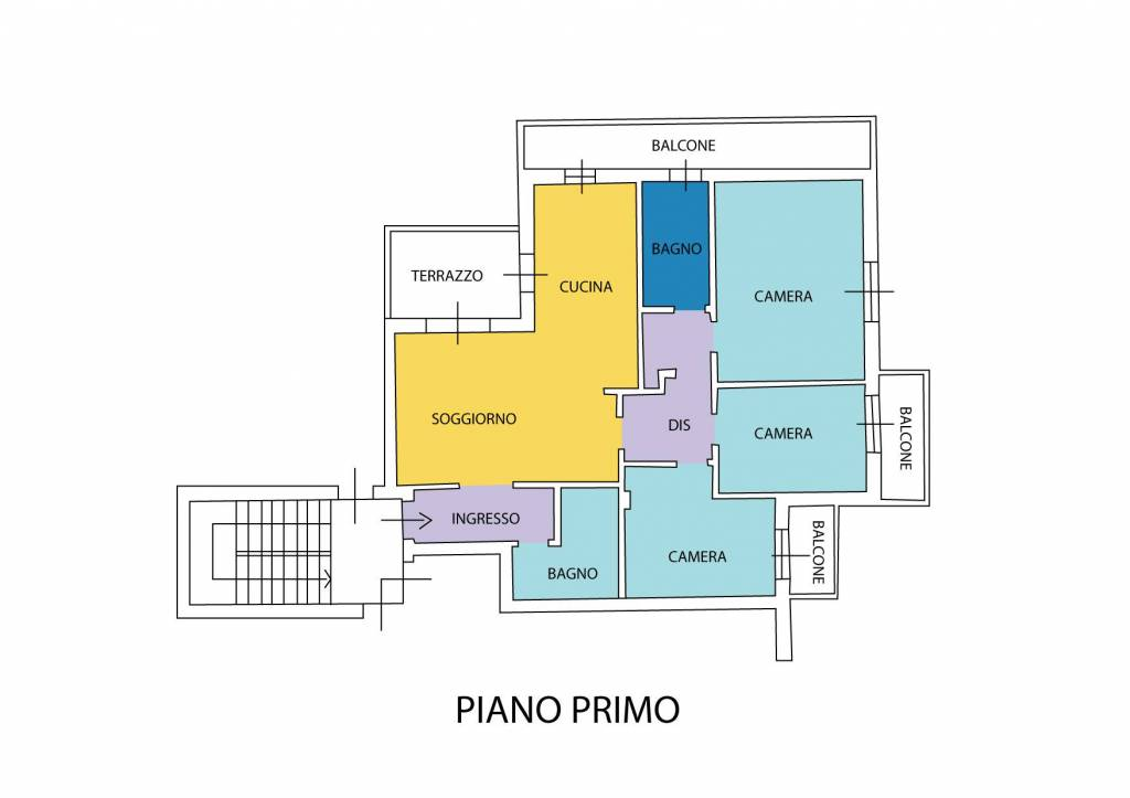 foto Planimetria 4-room flat via Papa Giovanni Paolo II 13, Limido Comasco