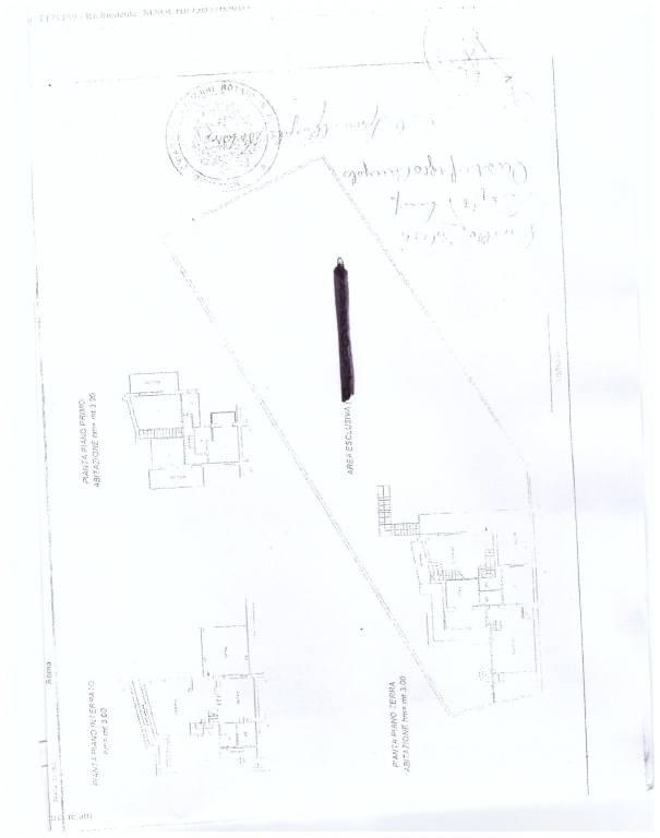 foto plan Two-family villa via di Colleverde, Castelnuovo di Porto