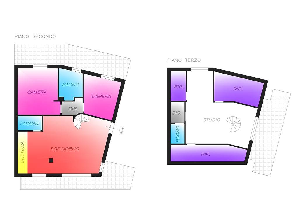 foto Planimetria 4-room flat via Guido Rossa 7, Noviglio