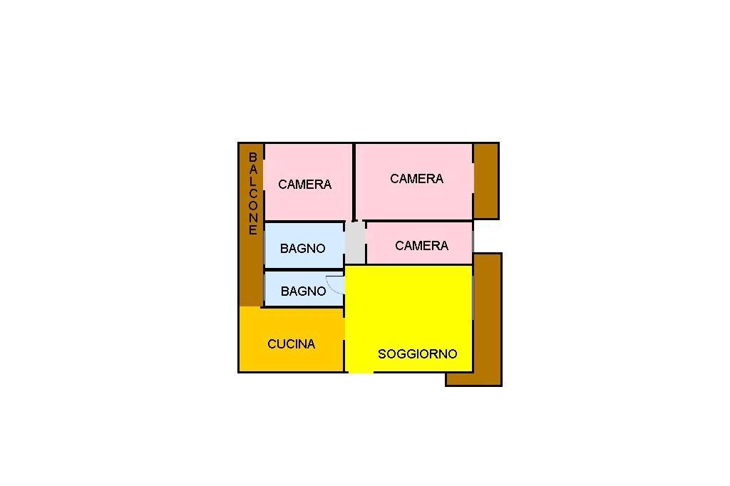 foto planimetria 4-room flat via San Francesco, Isola Vicentina