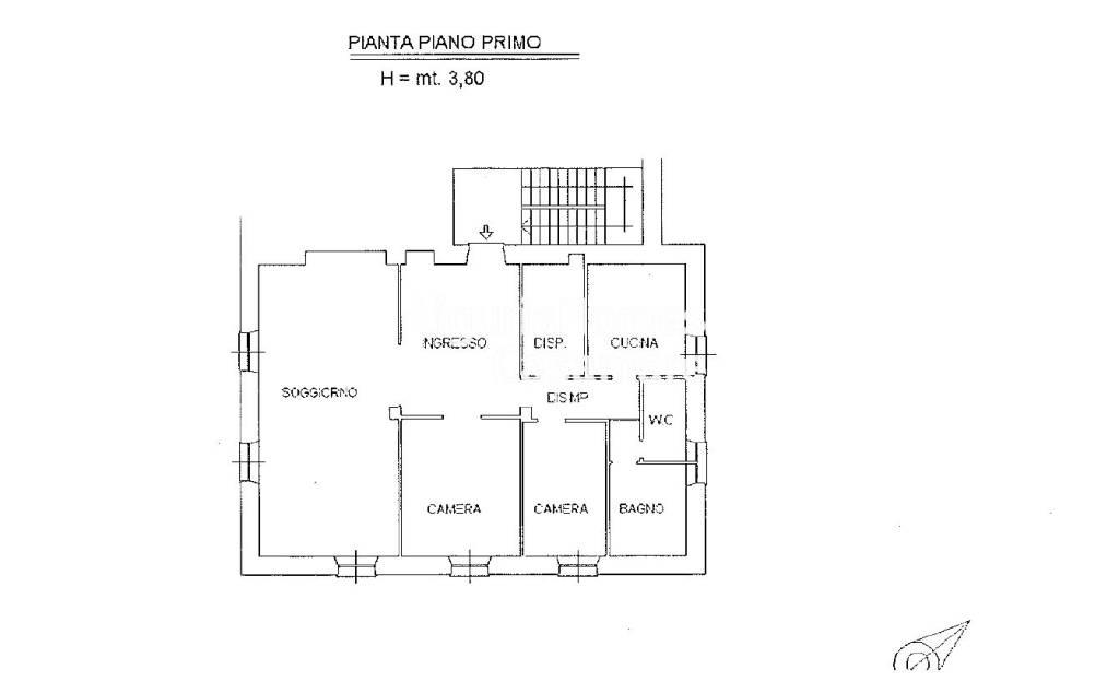 foto Planimetria Quadrilocale ottimo stato, primo piano, Imperia