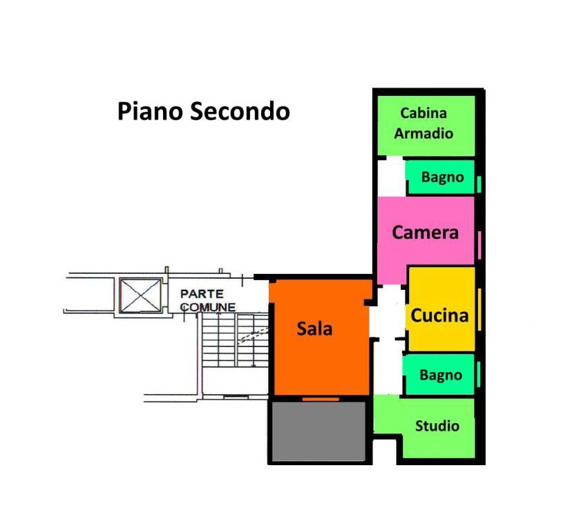 foto Planimetria 3-room flat via Mario Giuliani, Bubbiano