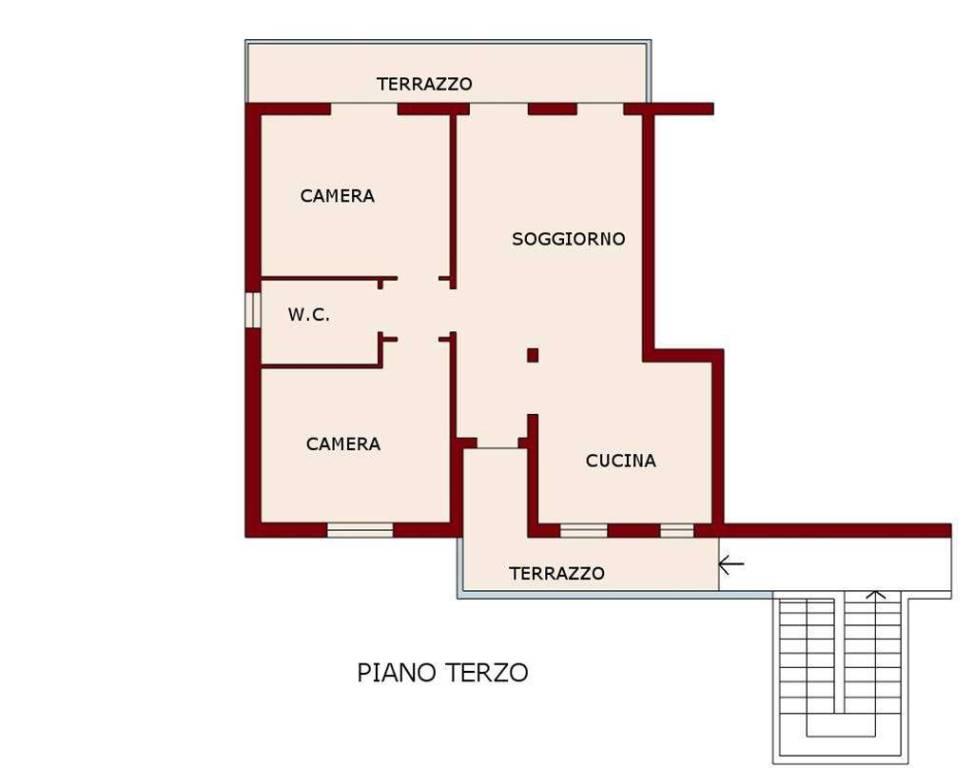 foto PLANIMETRIA 4-room flat excellent condition, third floor, Certaldo