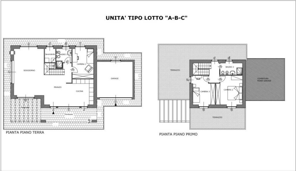 foto Planimetria Unità A-B-C Villa bifamiliare via Cesare Battisti, Bregano