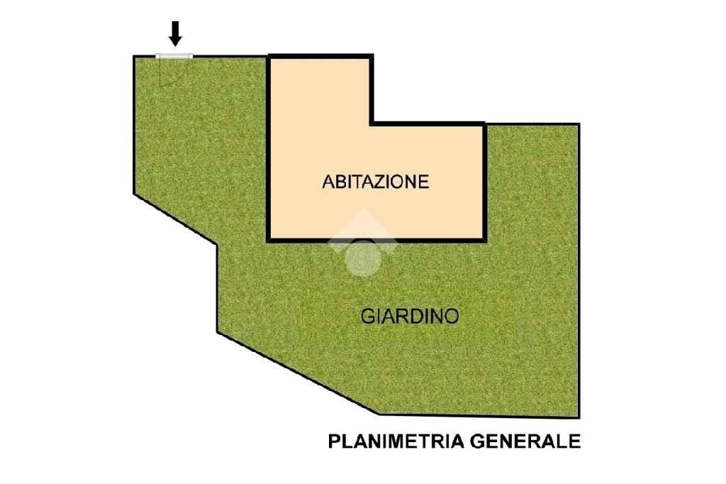 foto planimetria generale Trilocale via Alessandro Volta, Canzo