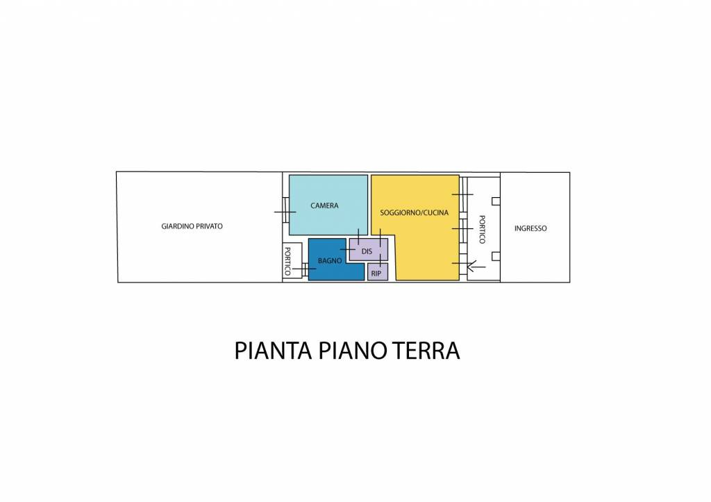 foto Planimetria 2-room flat via Giosuè Carducci, Limido Comasco