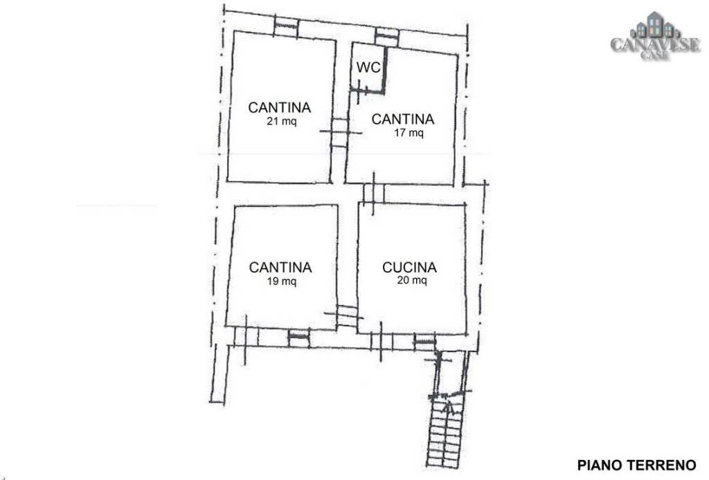 foto planimetria piano terra Detached house via Tripoli 42, Samone