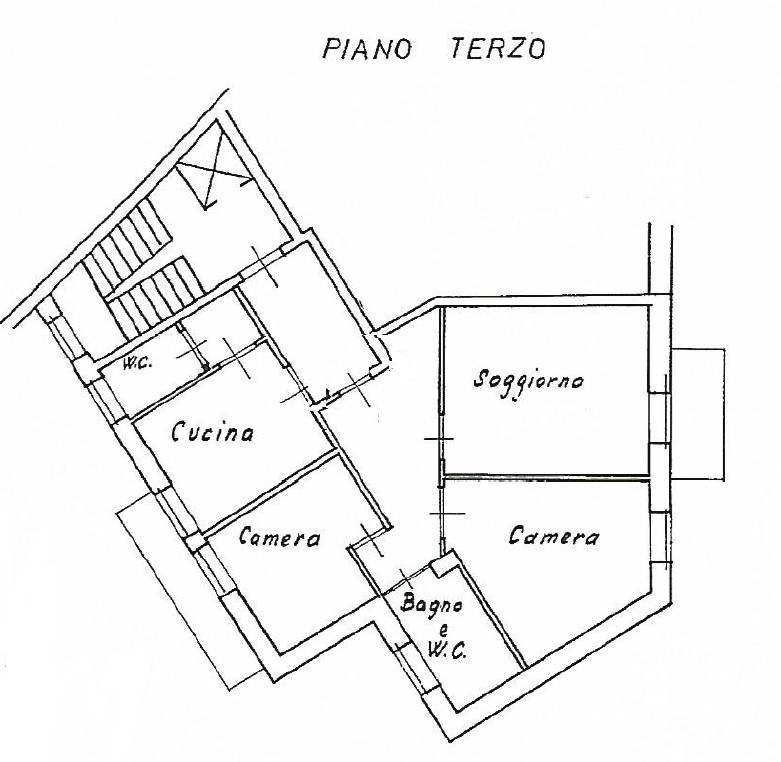 foto planimetria Trilocale via Caprera, Lecco