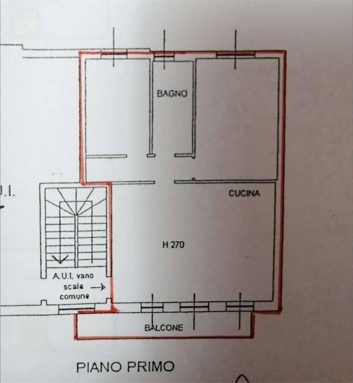 foto planimetria Trilocale via roma, Limido Comasco