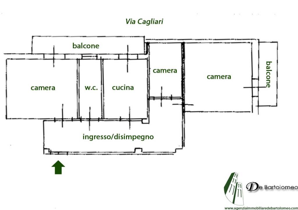 foto PLANIMETRIA 3-room flat via Cagliari, Taranto