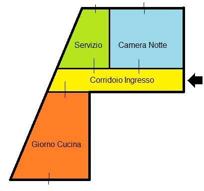 foto Planimetria Bilocale via Felice Cavallotti 257, Sesto San Giovanni