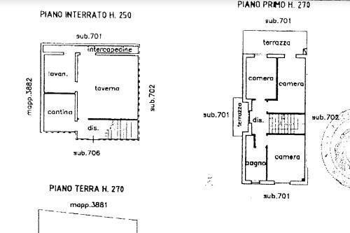 foto Planimetria casa Villa a schiera via Fratelli Mazzola, Almè