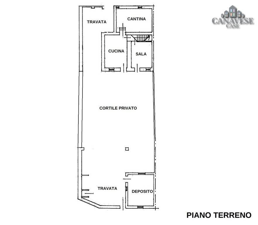 foto piantina piano terra Single-family townhouse Borgata Sant'Antonio 41, Favria