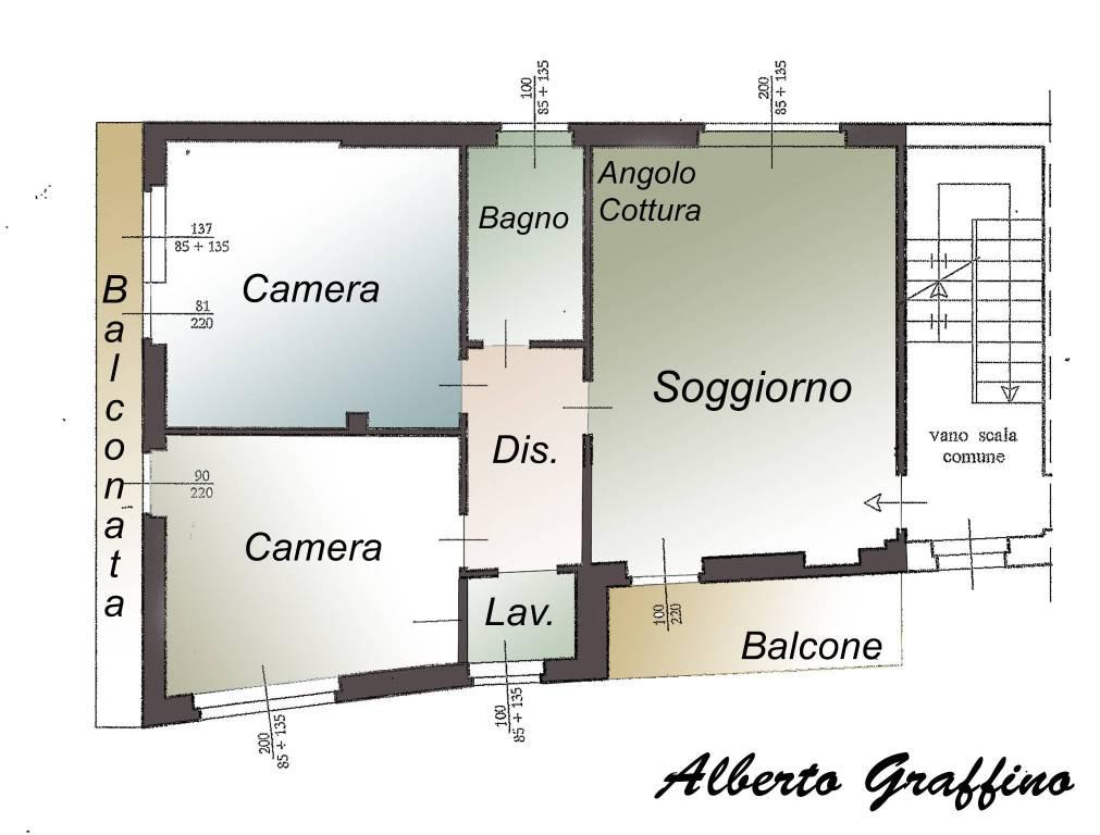 foto planimetria 4-room flat via Dante 7, Foglizzo