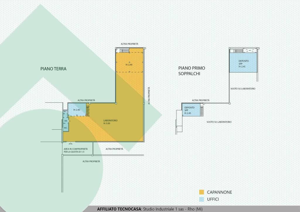 foto planimetria capannone Capannone in Vendita
