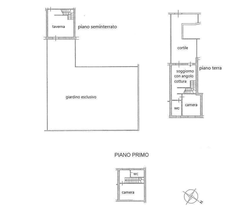 foto Planimetria Villa a schiera via ortensie, Godiasco Salice Terme