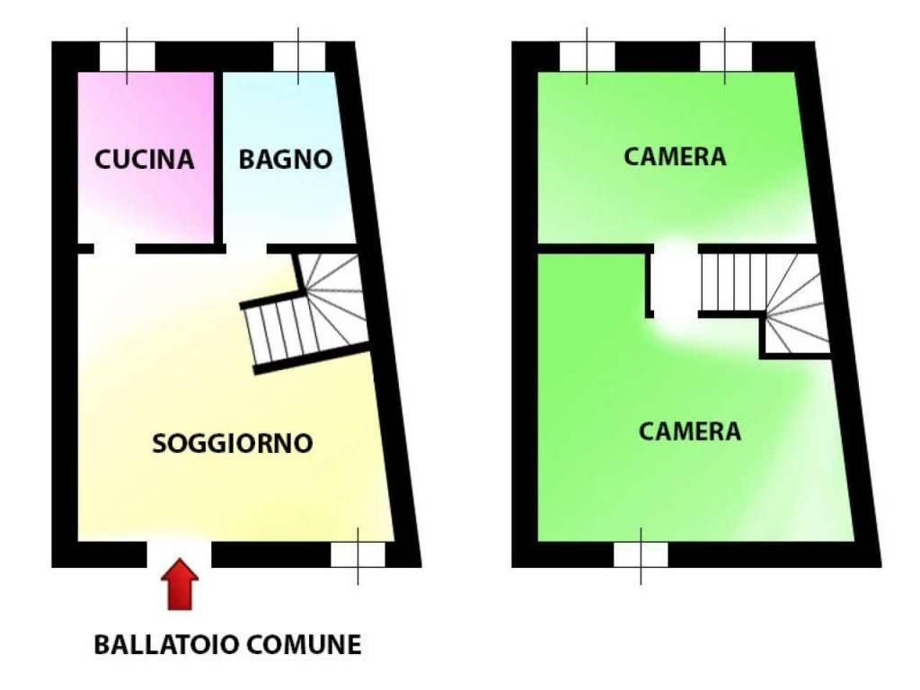 foto planimetria Trilocale via Repubblica, Novate Milanese