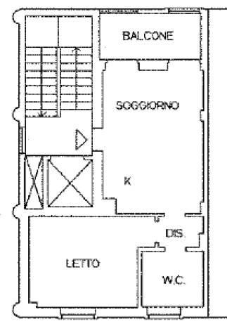 foto pianta 2-room flat via Cavallotti, Bubbiano