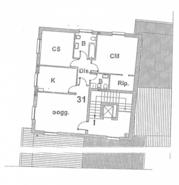 foto TRILOCALE 32-31-27-21 3-room flat via via carso nc, Madone