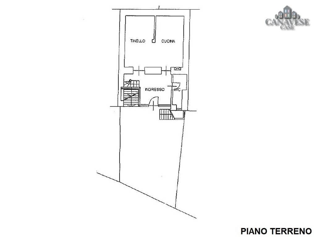 foto piantina piano terra Detached house via Ivrea 112, Quagliuzzo