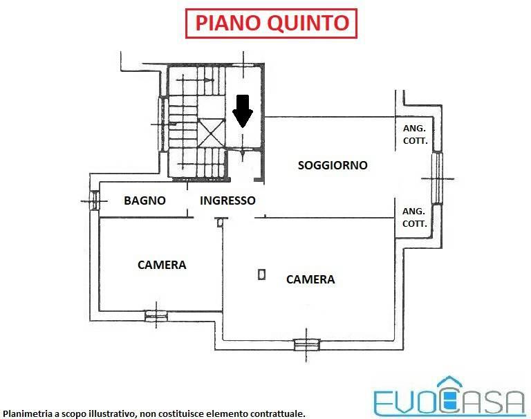 foto appartamento Penthouse piazza Emanuele Garrou, Prali