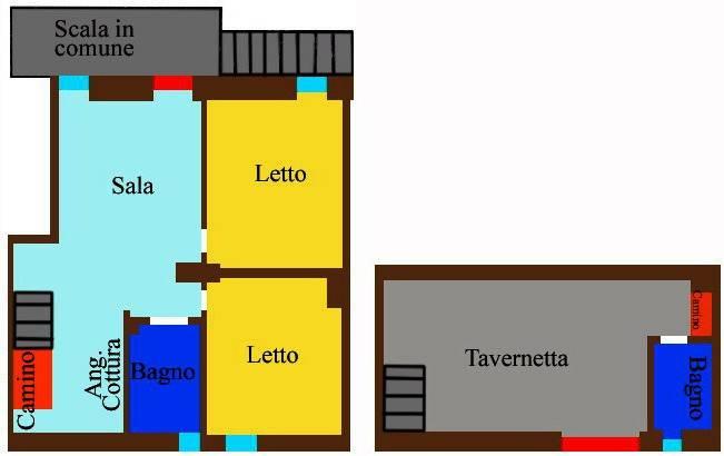foto Planimetria Trilocale buono stato, primo piano, Firenzuola