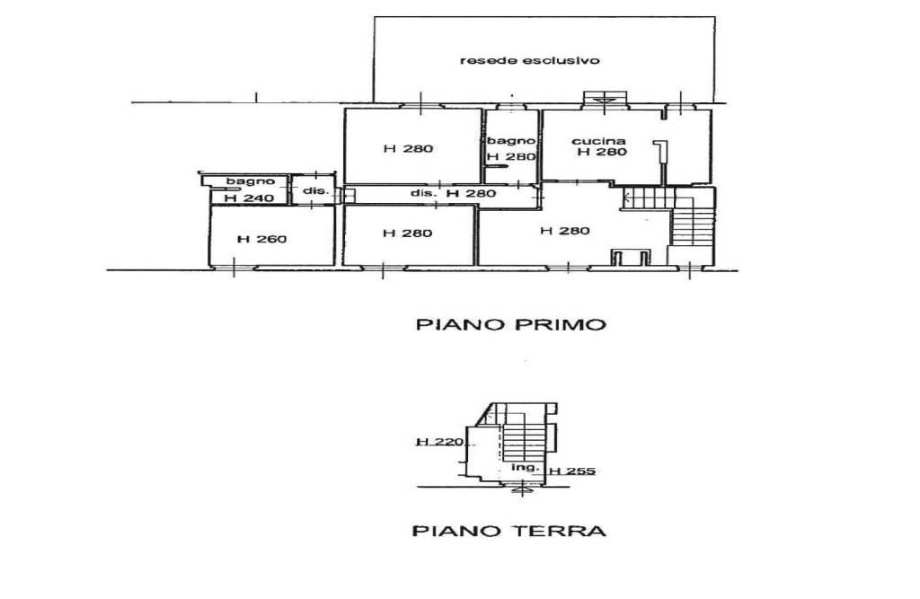 foto planimetria Detached house viale della Rimembranza, Pelago