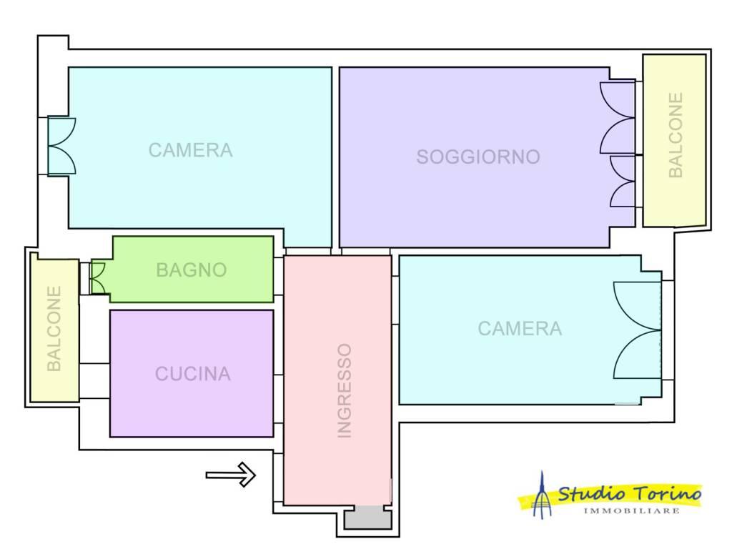 foto Planimetria Quadrilocale via Tunisi 63-6, Torino