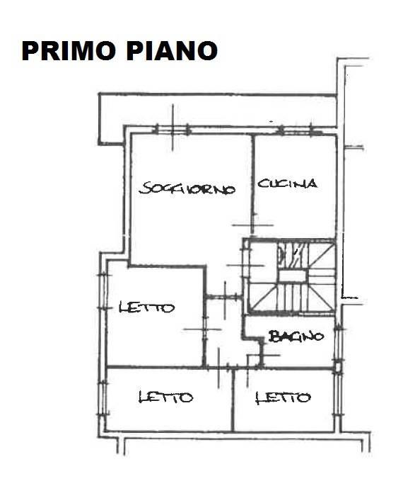 foto piano primo Terraced house, good condition, San Martino in Rio
