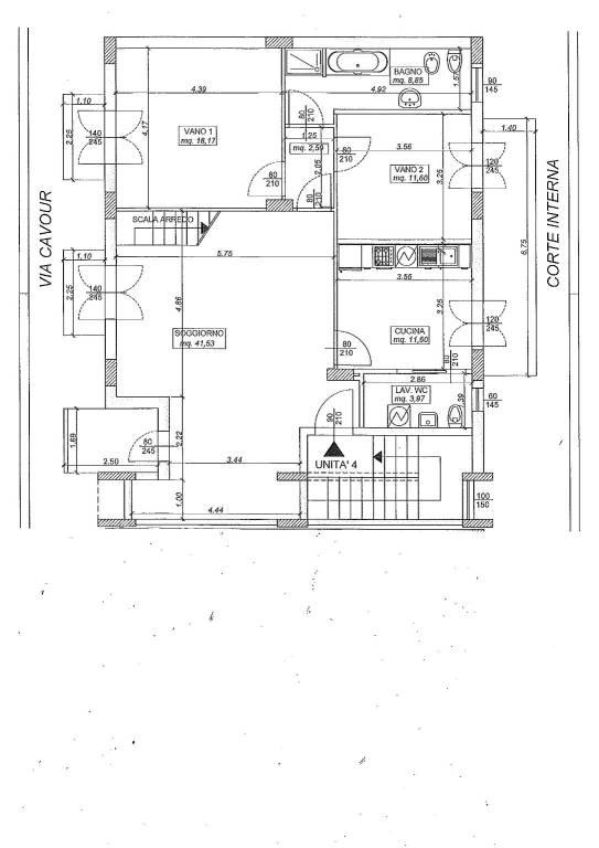 foto planimetria Stabile o palazzo via Camillo Benso di Cavour 148, Riposto