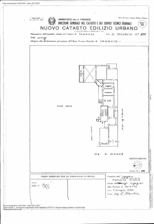 foto  Appartamento via Domenico Acclavio 135, Taranto