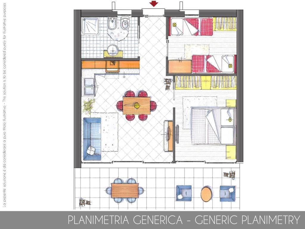 foto Planimetria Villa bifamiliare, nuova, 50 mq, Ceriale