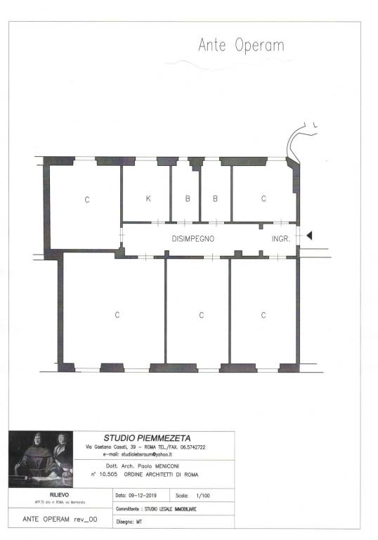 foto PLANIMETRIA Appartamento via Marmorata 141, Roma