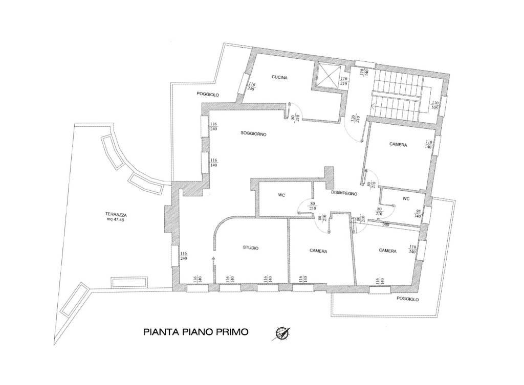 foto Planimetria Apartment excellent condition, first floor, Padova