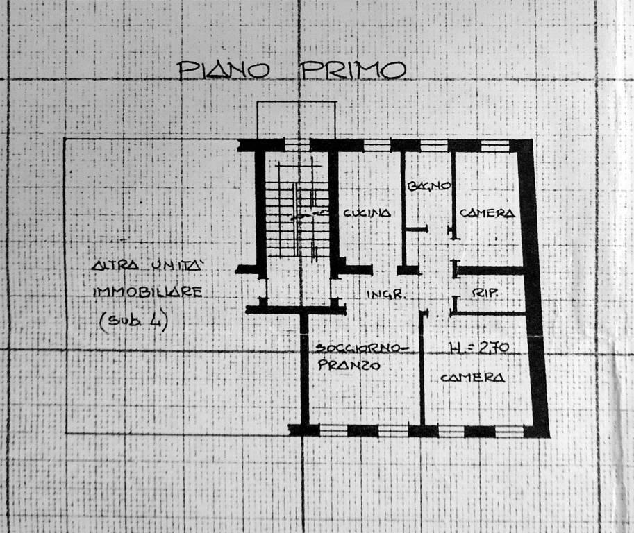foto planimetria Трехкомнатная квартира viale Michelangelo Grigoletti, Pordenone