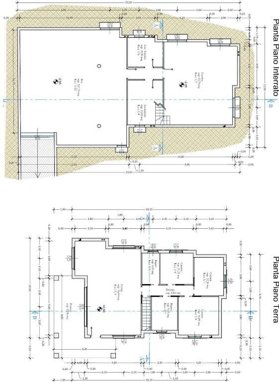 foto planimetria quotata Villa unifamiliare via Giovanni Pascoli 3, Erbusco