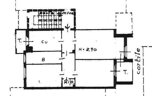 foto planimetria app. Appartamento all'asta via Aristide Magni 41-C, Inverigo