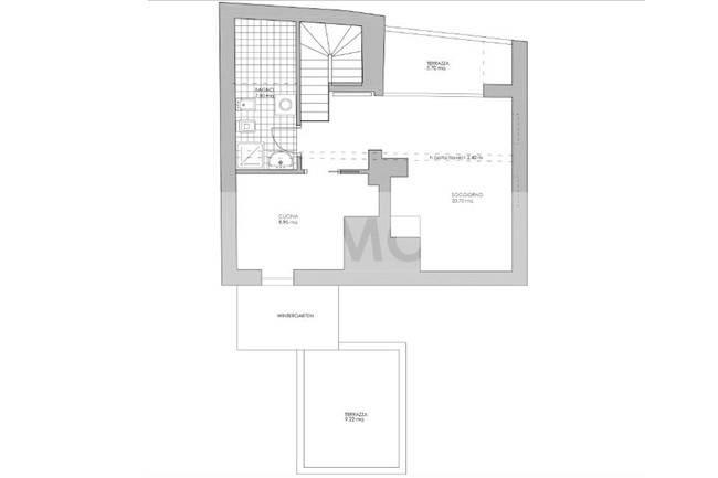 foto  Penthouse guter Zustand, 140 m², Appiano sulla Strada del Vino