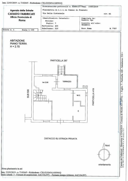 foto planimetria Two-family villa via delle Cisternole, Frascati