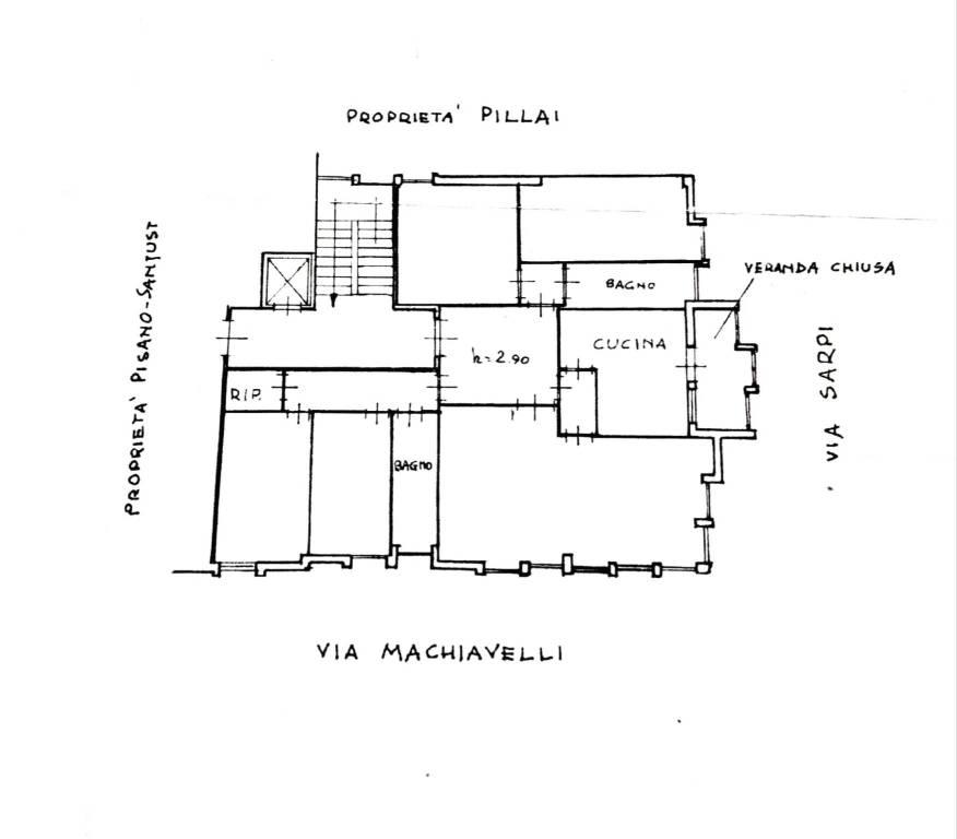 foto planimetria appartamento Appartamento via Niccolò Machiavelli 96, Cagliari