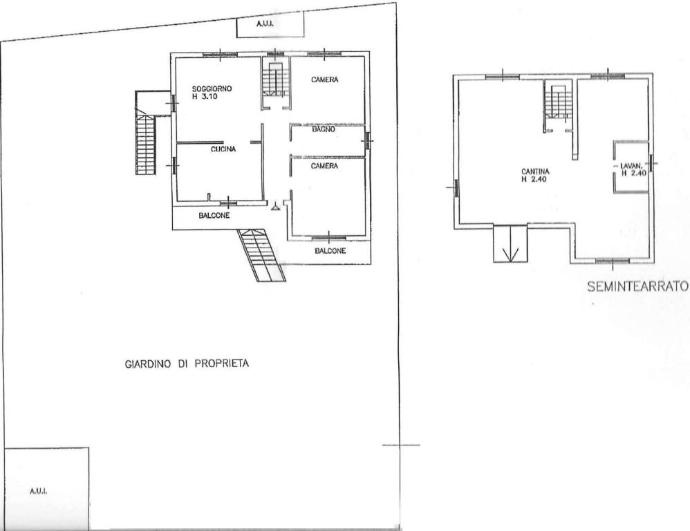 foto pianta Apartment in villa via Don Primo Mazzolari x, Magnago