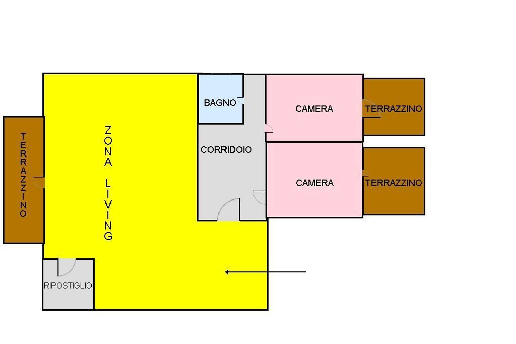 foto piantina Mansarda via madonna dell'olio, Aversa